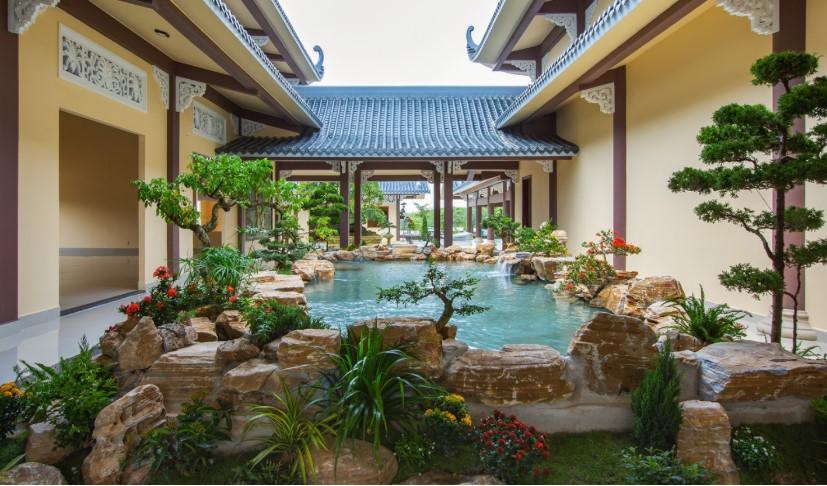 Thiền viện Trúc Lâm Long Đức, tâm tĩnh lặng hơn, không khí yên bình, thanh tịnh