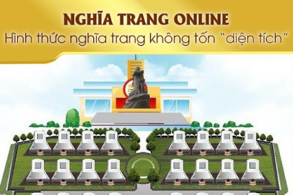 """Nghĩa Trang online - Hình thức nghĩa trang không tốn """"diện tích"""""""