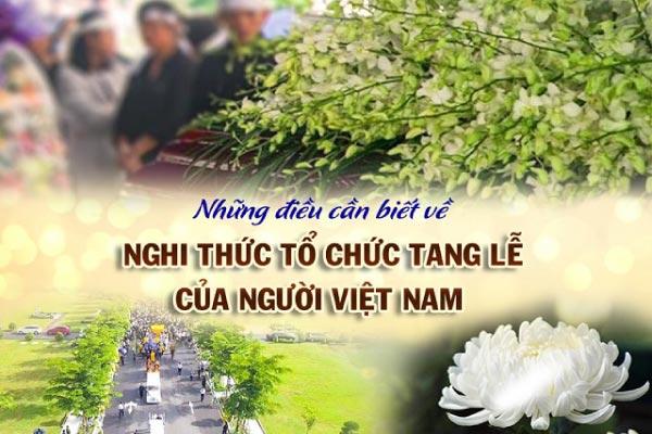 Những điều cần biết và các nghi thức tổ chức tang lễ của người Việt Nam