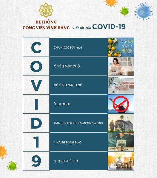 Viết tắt của COVID-19 và  9 điều hạnh phúc