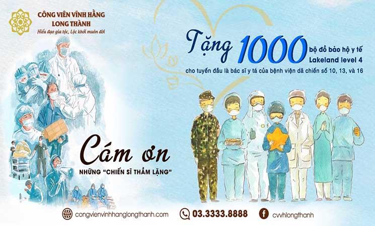 Trao tặng 1000 Bộ đồ y tế Lakeland level 4 cho các y, bác sĩ nơi tuyến đầu chống dịch